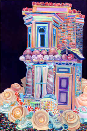 Wall sticker  Row House Cake with Sneakers - Josh Byer