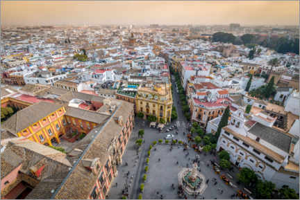 Foam board print  View over the old town of Seville - Julian Peters