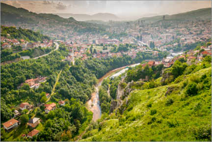 Premium poster View of Sarajevo from the Yellow Bastion
