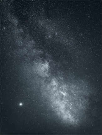 Aluminium print  Starry sky with milky way galaxy - Lukas Saalfrank