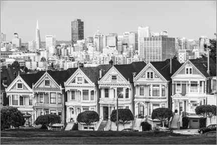 Canvas print  San Francisco skyline, black and white