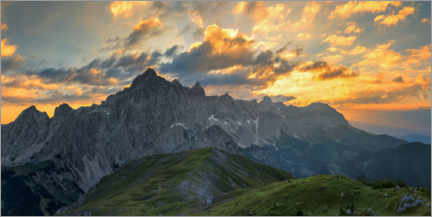 Acrylic print  Dachstein at sunrise in the Alps - Dieter Meyrl