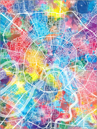 Gallery print  Moscow city map - Bekim Mehovic