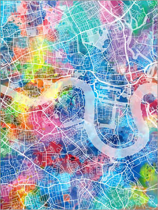 Acrylic print  London city map - Bekim Mehovic