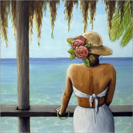 Canvas print  View from palapa - Sarah Morrissette