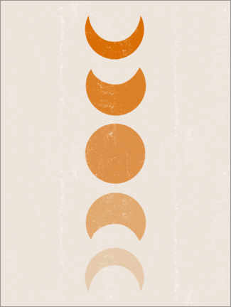 Premium poster Lunar phases