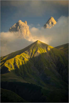 Acrylic print  Aiguilles d'Arves in the French Alps - Jos Pannekoek