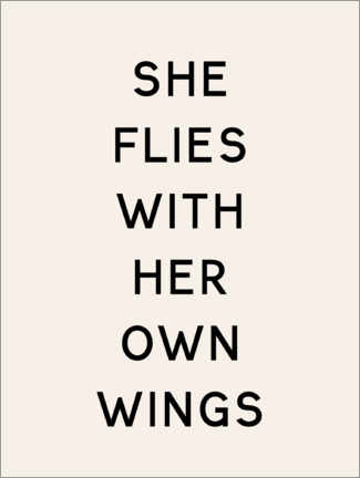 Premium poster She flies with her own wings