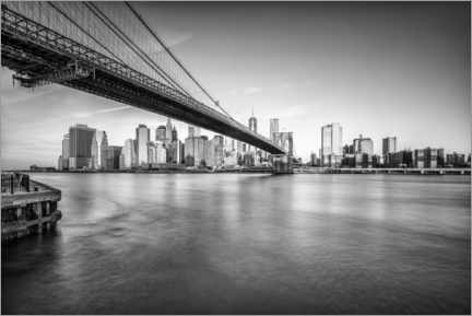 Premium poster  Brooklyn Bridge - Jan Christopher Becke
