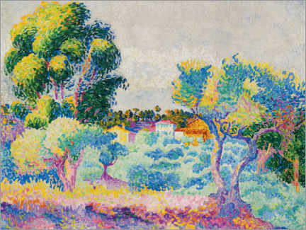 Premium poster  Eucalyptus and olive grove - Henri Edmond Cross