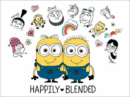 Wall sticker  Despicable Me 3 - Happily Blended