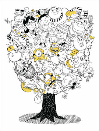 Gallery print  Despicable Me 3 - Family Tree