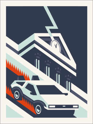 Premium poster  Back to the future - minimal