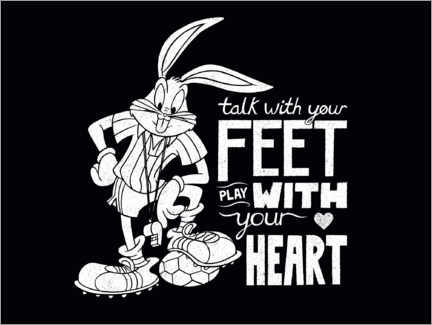 Wall sticker  Bugs Bunny - Soccer quote