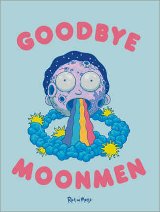 Wall sticker  Rick and Morty - Goodbye Moonmen