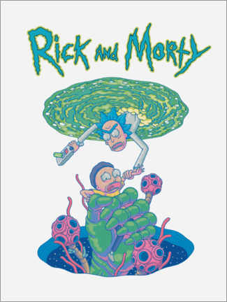 Wall sticker  Rick and Morty Portal