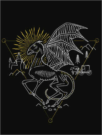 Premium poster Harry Potter - Thestral