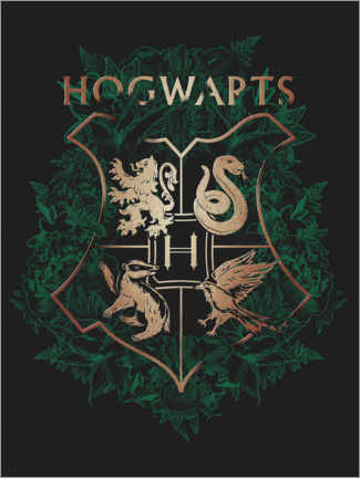 Canvas print  Hogwarts 4 Houses