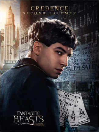 Premium poster  Fantastic Beasts and Where to Find Them - Credence Barebone
