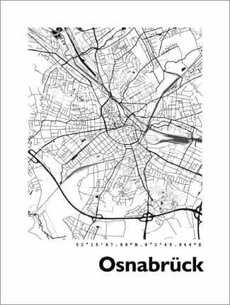 Gallery print  Map of Osnabrück - 44spaces