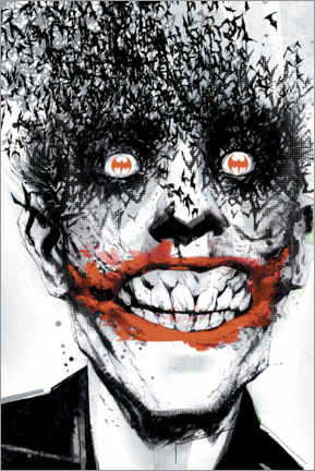 Premium poster  The Joker Crazy Face