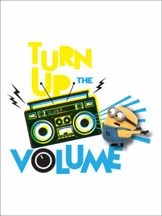 Premium poster  Minions - Yellow sound
