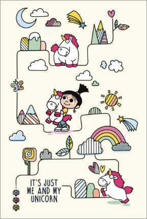 Premium poster Agnes with unicorn