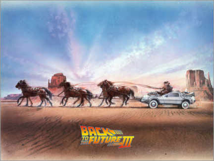 Foam board print  Back to the future III - Carriage