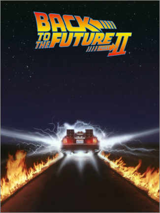 Canvas print  Back to the future II - DeLorean