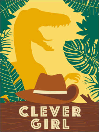 Wall sticker  Clever Girl