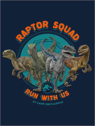 Wall sticker  Camp Cretaceous - Raptor Squad