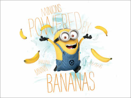 Premium poster  Minions - Banana Power