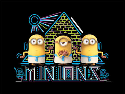 Acrylic print  Minions in Egypt