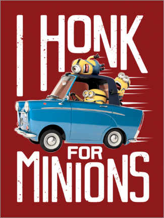 Premium poster  I honk for minions