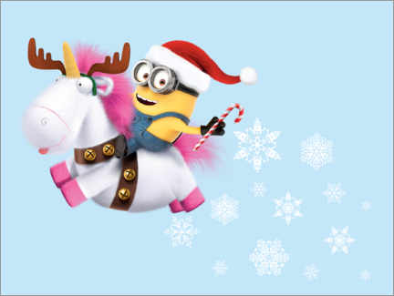 Canvas print  X-mas Unicorn (Minions)