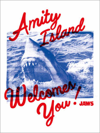 Premium poster  Welcome to Amity Island!
