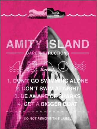 Premium poster  Amity Island - Care instructions
