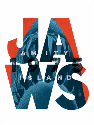 Wall sticker  Jaws typography