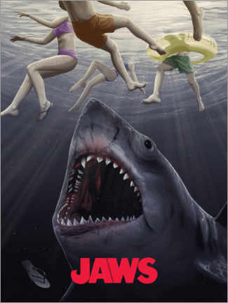 Canvas print  Jaws - Horror vision II