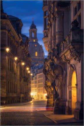 Acrylic print  Florence on the Elbe with Augustusstrasse (Frauenkirche Dresden) - Dirk Wiemer