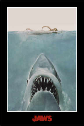 Canvas print  Jaws - swimmer