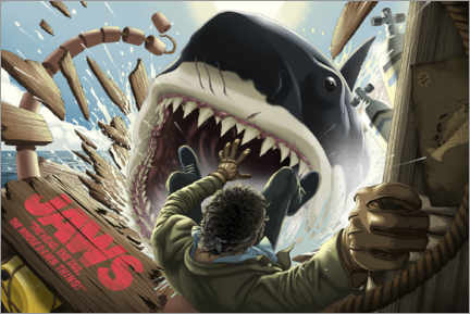 Premium poster  Jaws - Shark attack