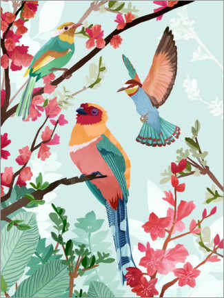 Premium poster Birds of Summer