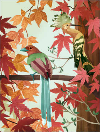 Premium poster Birds of Autumn