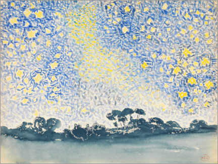 Wall sticker  Landscape with stars - Henri Edmond Cross