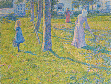 Premium poster  In Thuin, the tennis game - Theo van Rysselberghe