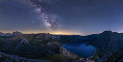 Premium poster Milky Way over the Lünersee