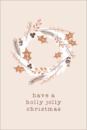 Premium poster Holly Jolly Christmas