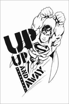 Premium poster  Superman - Up and away