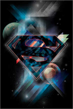 Premium poster  Superman Iconic Space Shield